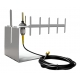 ANTENNE WIFI DIRECTIONNELLE YAGI 15DBI RP-SMA - CABLE 2M