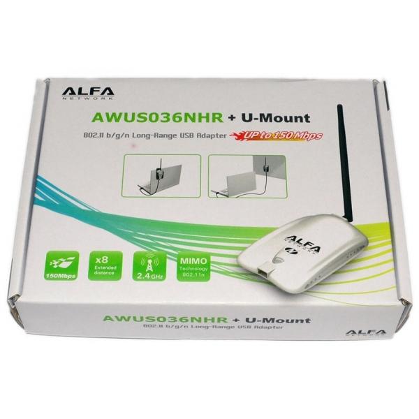 alfa network awus036nhr carte usb wifi b g n 2000mw antenne 5dbi. Black Bedroom Furniture Sets. Home Design Ideas